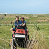 Farm children, Scenic New Zealand, the Wairarapa coastal farmland. Tora. New Zealand Image