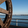 Dredge wheel in Auckland waterfront.