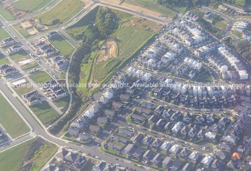 Aerial photo of new property development new housing subdivision.