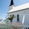 Picket fence around White Raukokore Historic Church. East Coast, New Zealand images