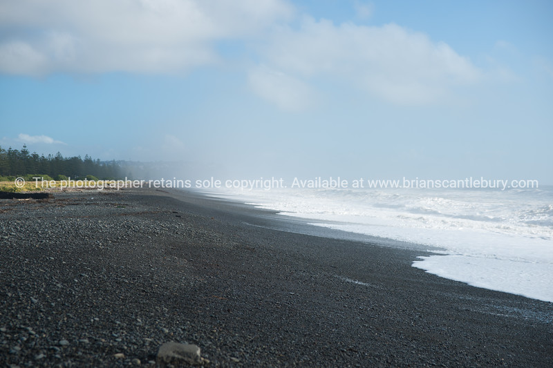 Cape Kidnappers stoney beach. New Zealand images.