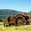 Rusty deserted tractor