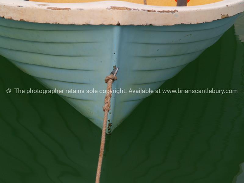Green dinghy.