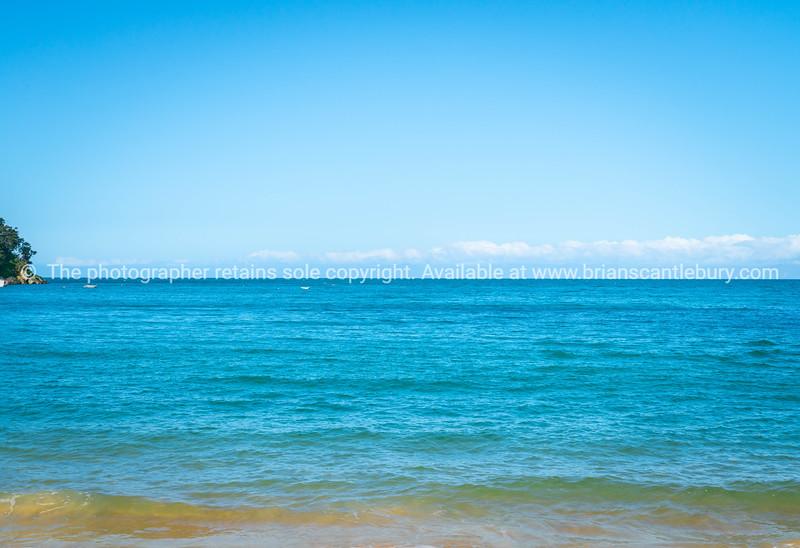 Ocean background Kaiterteri Beach Tasman New Zealand