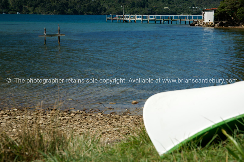 Marlborough Sounds scenic from Queen Charlotte Track. New Zealand photographic stock images. South Island.