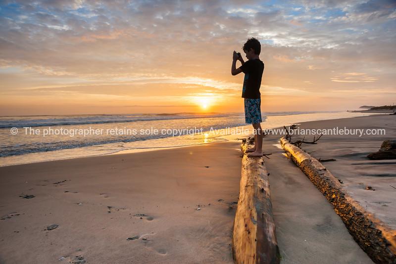 Morning light at beach