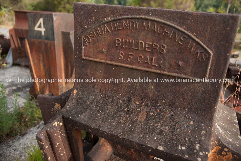 Old mining equipment in Karangahake Gorge, Waikato. New Zealand image