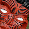 Indigenous carving. New Zealand images.
