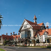 The Tudor architecture of Rotorua Bath House and Museum.