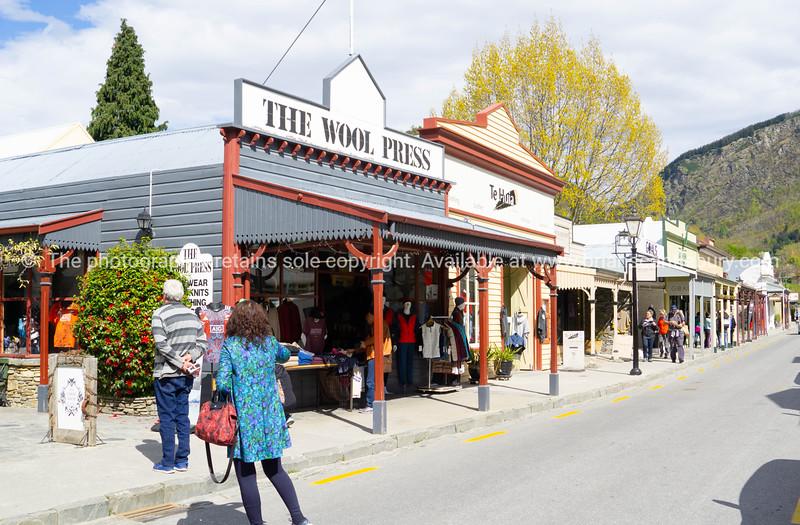 Street in popular tourist town of Arrowtown