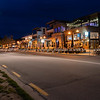 Wanaka streets at night