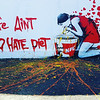 Diet message in wall art.