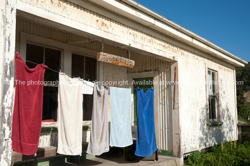 Washing drying. New Zealand images.