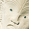 Maori carving in sandstone