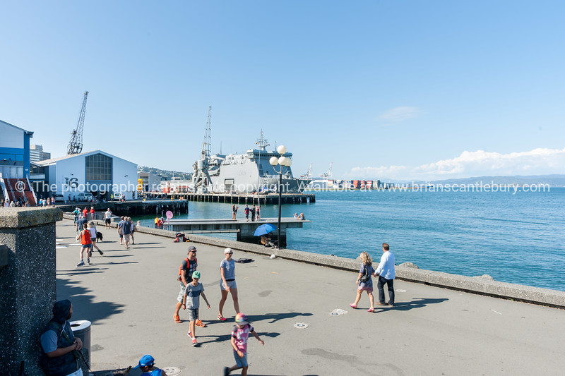 Summer day on Wellington waterfront