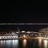 City lights across bay Wellington New Zealand