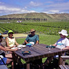Robyn, Helen, Paul and Gerrie at one of the vineyards on our trip to Napier 02/1999.