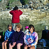 Gerrie and Robyn on the tractor trip to Cape Kidnappers Gannet colony 02/1999.