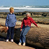 Gerrie and Pat at Waimamaku Beach near Opononi 09/2002.