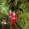 Santa's! Xmas day on the Charming Creek walkway