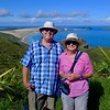 Russell and Robyn and Cape Maria van Diemen near Cape Reinga