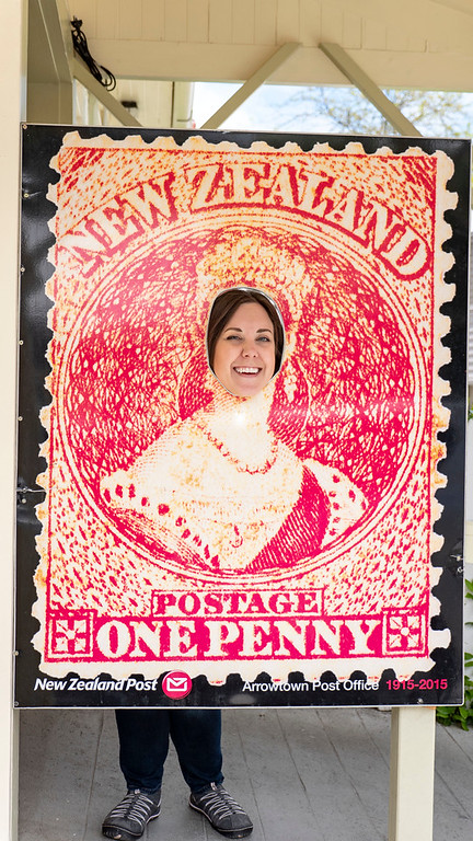 Day Trips From Queenstown: Lauren on a New Zealand postage stamp