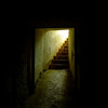 Stairs into one of the gun tunnels at North Head.
