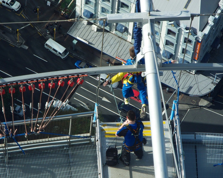 Bungy Jumper on the Sky Tower June 2012