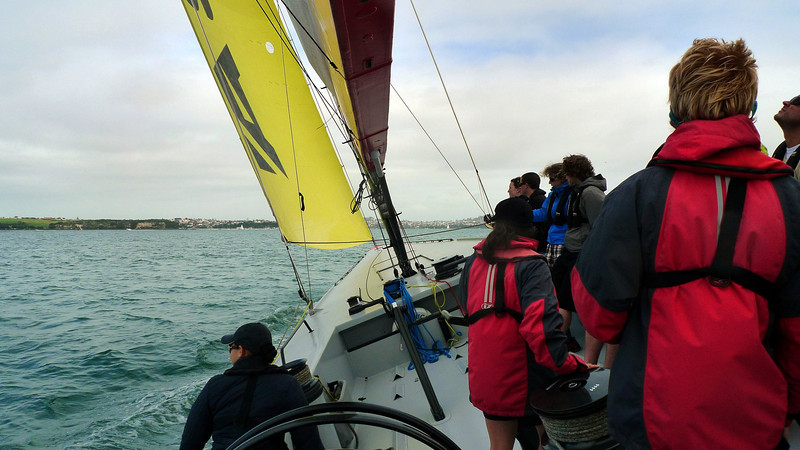 On the America's Cup yacht on the Waitemata Harbour.