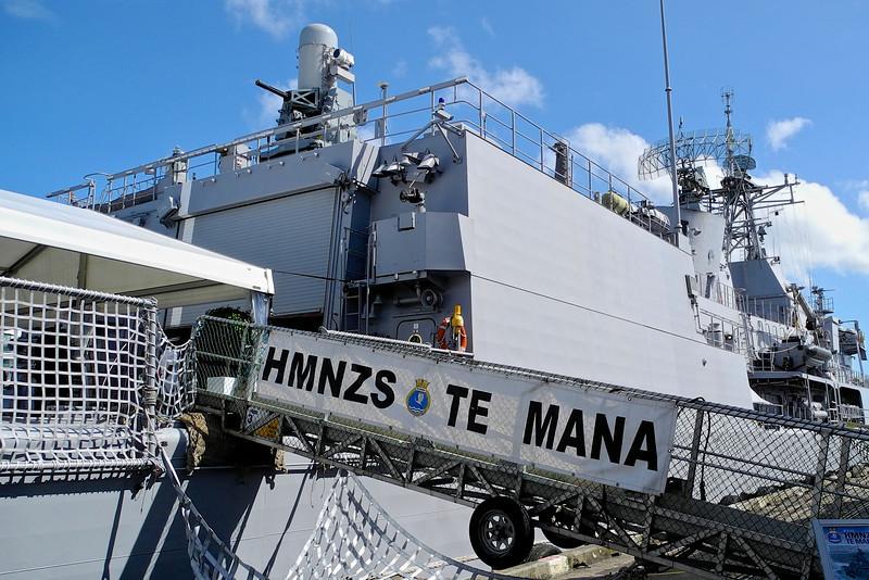 The navy Ship Te Mana Jan 2013