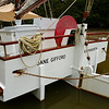 The scow Jane Gifford moored in Warkworth.