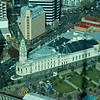 Auckland Town Hall from the Sky Tower June 2012