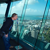 Tos looking out from the Sky Tower June 2012