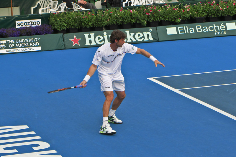 Juan Carlos Ferrero, a former world no1 playing at Auckland. He lost in the first round to a qualifier.