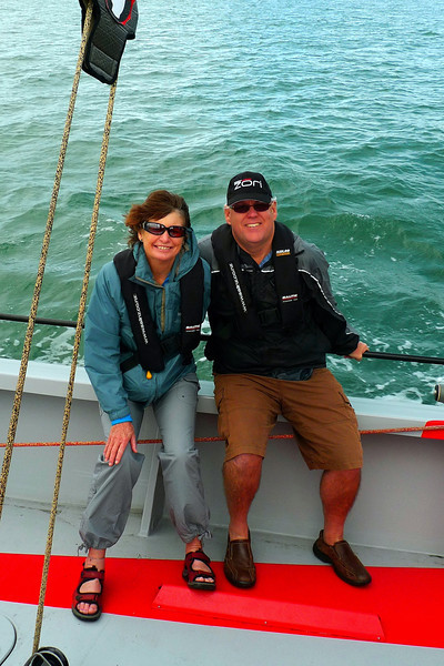 Us on the America's Cup yacht