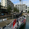 America's Cup yacht at Viaduct Basin.
