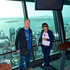 Tos and Robyn up the Sky Tower June 2012