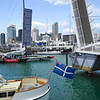The old America's Cup yacht in th Viaduct Harbour Jan 2013