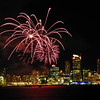 Fireworks over the city from the Bayswater Marina for Valerie Adams gold medal award. September 2012