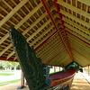 Waka in the treaty grounds at Waitangi