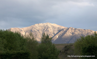 Mountain near Lake Tekapo in New Zealand in November 2010
