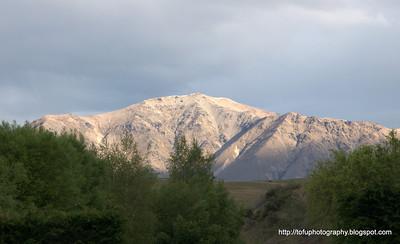 Mountain near Lake Tekapo in New Zealand in November 2010