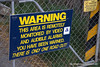 Warning that monitoring and surveillance takes place at Lake Alexandrina in New Zealand in November 2010