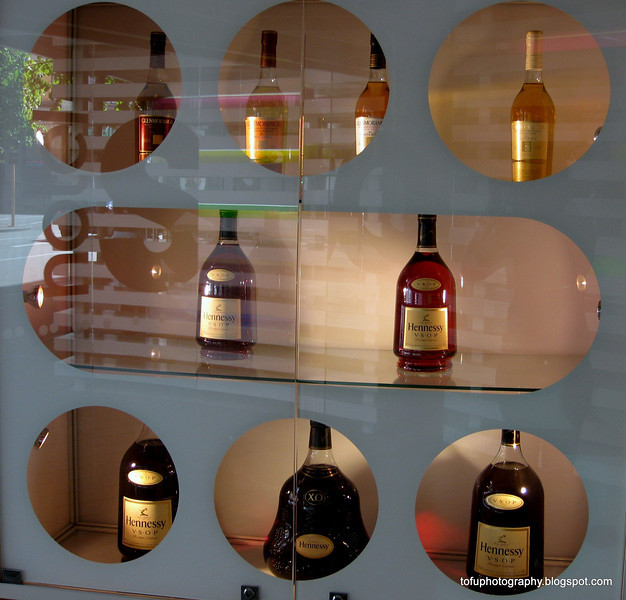 Hennessy whisky for sale in a shop window in Christchurch, New Zealand in November 2010