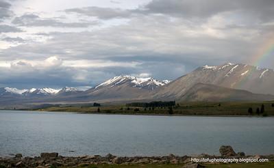 Lake Tekapo in New Zealand in November 2010
