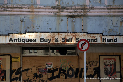 A fading building in Christchurch, New Zealand in November 2010.
