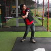 Marty at the baseball machine in Rotorua