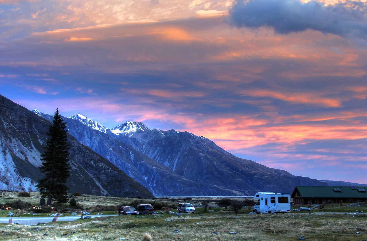Sunset in Mount Cook/Aoraki National Park