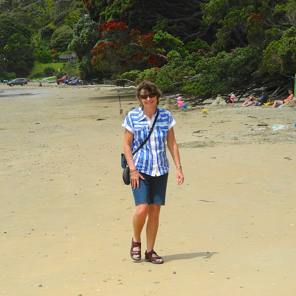 Robyn on Coopers Beach.