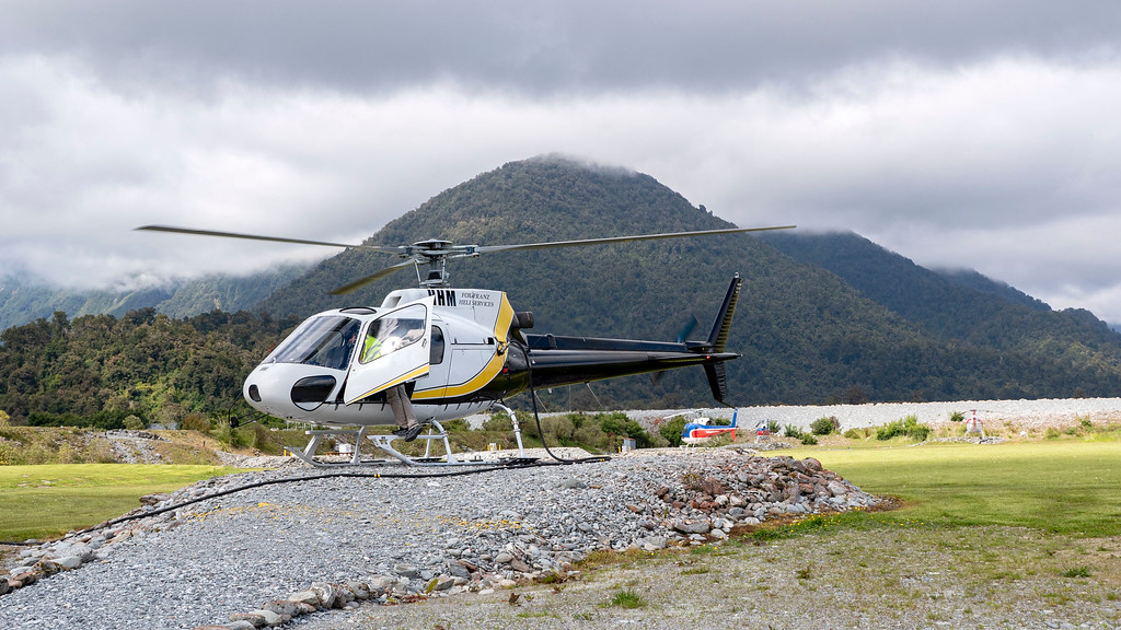 Franz Josef Glacier Helicopter Tour - Our helicopter with Heliservices.NZ